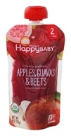 HappyFamily - HappyBaby Organic Clearly Crafted Stage 2 Baby Food 6+ Months Apples, Guavas and Beets - 4 oz.