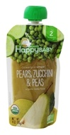 HappyFamily - HappyBaby Organic Clearly Crafted Stage 2 Baby Food 6+ Months Pears, Zucchini and Peas - 4 oz.