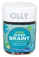Olly - Kids Super Brainy Blue Raspberry - 50 Gummies