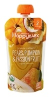 HappyFamily - HappyBaby Organic Clearly Crafted Stage 2 Baby Food 6+ Months Pears, Pumpkin and Passion Fruit - 4 oz.