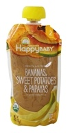 HappyFamily - HappyBaby Organic Clearly Crafted Stage 2 Baby Food 6+ Months Bananas, Sweet Potatoes, and Papayas - 4 oz.