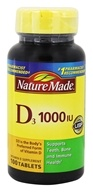 Nature Made - Vitamin D3 1000 IU - 100 Tablets