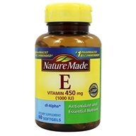 Nature Made - Vitamin E dl-Alpha 1000 IU - 60 Liquid Softgels