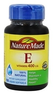 Nature Made - Natural Vitamin E dl-Alpha 400 IU - 100 Liquid Softgels