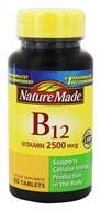 Nature Made - Vitamin B12 2500 mcg. - 60 Tablets