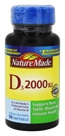 Nature Made - Vitamin D3 2000 IU - 90 Softgels