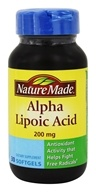 Nature Made - Alpha Lipoic Acid 200 mg. - 30 Softgels
