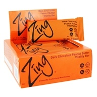 Zing Bars - Nutrition Bars Box Dark Chocolate Peanut Butter - 12 Bars