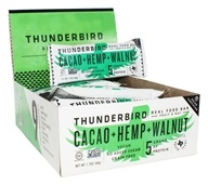 Thunderbird Energetica - Gluten-Free Raw Energy Bars Box Cacao Hemp Walnut - 15 Bars
