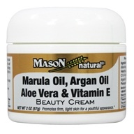 Mason Natural - Beauty Cream Marula Oil, Argan Oil, Aloe Vera and Vitamin E - 2 oz.