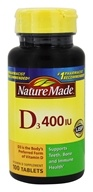 Nature Made - Vitamin D3 400 IU - 100 Tablets