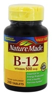 Nature Made - Vitamin B12 500 mcg. - 200 Tablets