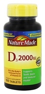 Nature Made - Vitamin D3 2000 IU - 100 Tablets