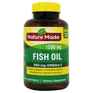 Nature Made - Fish Oil 1200 mg. - 100 Liquid Softgels
