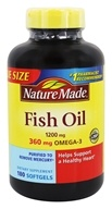 Nature Made - Fish Oil 1200 mg. - 180 Liquid Softgels