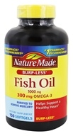 Nature Made - Fish Oil Burp-Less 1000 mg. - 150 Liquid Softgels