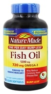Nature Made - Fish Oil One Per Day Burp-Less 1200 mg. - 120 Liquid Softgels