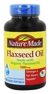 Nature Made - Flaxseed Oil 1000 mg. - 100 Liquid Softgels