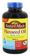 Nature Made - Flaxseed Oil 1000 mg. - 180 Liquid Softgels