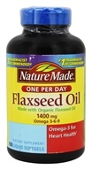 Nature Made - Flaxseed Oil One Per Day 1400 mg. - 100 Liquid Softgels