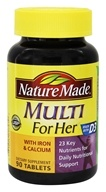 Nature Made - Multi for Her with Iron & Calcium - 90 ...