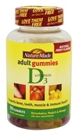 Nature Made - Vitamin D3 Adult Gummies Strawberry, Peach & Mango - 90 Gummies