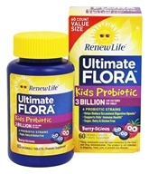 Renew Life - Ultimate Flora Kids Probiotic 3 Billion Berry-licious - 60 Chewable Tablets