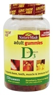 Nature Made - Vitamin D3 Adult Gummies Strawberry, Peach & Mango - 150 Gummies