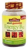 Nature Made - Energy B12 Adult Gummies Cherry & Mixed Berries 1000 mcg. - 80 Gummies