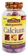 Nature Made - Calcium Adult Gummies Cherry, Orange & Strawberry - 80 Gummies
