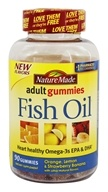 Nature Made - Fish Oil Adult Gummies Orange, Lemon & Strawberry Banana - 90 Gummies