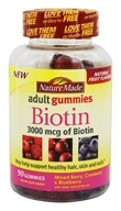 Nature Made - Biotin Adult Gummies Mixed Berry, Cranberry & Blueberry 3000 mcg. - 90 Gummies