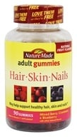 Nature Made - Hair, Skin and Nails Adult Gummies Mixed Berry, Cranberry & Blueberry - 90 Gummies