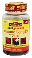 Nature Made - Immune Complex with Zinc Adult Gummies Mixed Berries - 60 Gummies