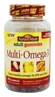 Nature Made - Multi + Omega-3 Adult Gummies Strawberry, Lemon & Orange - 90 Gummies