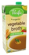 Pacific Natural Foods - Organic Vegetable Broth Low Sodium - 32 oz.