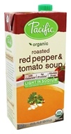 Pacific Natural Foods - Organic Roasted Red Pepper and Tomato Soup Light Sodium - 32 oz.