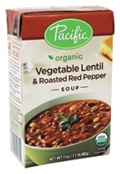 Organic Vegetable Lentil and Roasted Red Pepper Soup - 17 fl. oz. by Pacific Foods