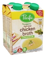 Organic Free Range Chicken Broth Low Sodium 8 fl. oz. - 4 Pack(s) by Pacific Foods