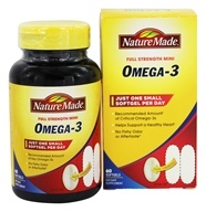 Nature Made - Omega-3 Full Strength Mini - 60 Softgels