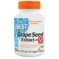 Doctor's Best - Grape Seed Extract with MegaNatural-BP - 120 Vegetarian Softgels