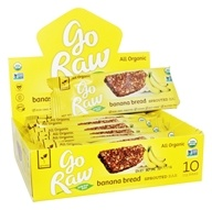 Go Raw - Organic Sprouted Bars Box Banana Bread - 10 Bars