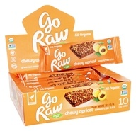 Go Raw - Organic Sprouted Bars Box Chewy Apricot - 10 Bars