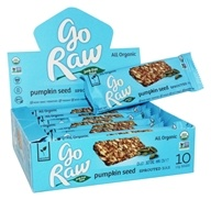 Go Raw - Organic Sprouted Bars Box Pumpkin Seed - 10 Bars