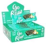 Go Raw - Organic Sprouted Bars Box Sweet Spirulina - 10 Bars