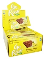 Go Raw - Organic Sprouted Bars Box Banana Bread - 30 Bars
