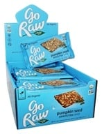 Go Raw - Organic Sprouted Bars Box Pumpkin Seed - 20 Bars