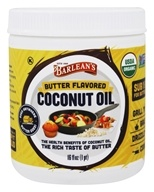 Barlean's - Organic Coconut Oil Butter Flavored - 16 oz.