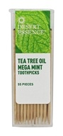Desert Essence - Toothpicks Tea Tree Oil Mega Mint - 55 Piece(s)