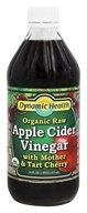 Dynamic Health - Organic Raw Apple Cider Vinegar with Mother and Tart Cherry - 16 oz.